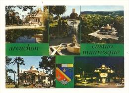 Cp, 33, Arcachon, Le Casino Mauresque, Multi-Vues - Arcachon