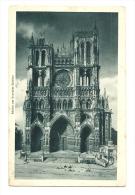 Cp, 80, Amiens, LA Cathédrale Au Crépuscule, écrite - Amiens