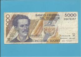 ECUADOR - 5000 SUCRES - 31.01.1995 - Pick 128b - Série AK - Ecuador