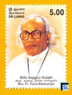 Sri Lanka Stamps 2013, Rev. Fr. Tissa Balasuriya, MNH - Sri Lanka (Ceylon) (1948-...)