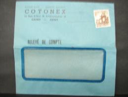 LetDoc. 11. N°767 De 1948 Avec Publicité COTONET à Gand - Brieven En Documenten