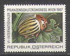 Austria 1967 Republik Österreich 6th Congress For Plant Protection Potato Beetle Insects Stamp MNH Mi 1243 Austria 796 - Plants