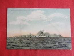 Warships  Entering Sandy Bar Harbor Ca 1910 Not Mailed -ref 1159 - Guerra