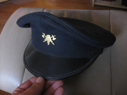 H300 ANCIENNE CASQUETTE SAPEUR POMPIER BELGIQUE - Headpieces, Headdresses