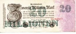 Allemagne - B842 -  Billet Uniface  20  Millionen  Mark De 1923 (type, Nature, Valeur, état Voir Scan) - [ 3] 1918-1933 : Weimar Republic