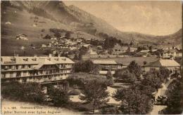 Chateau D Oex - Hotel Berthod Avec Eglise Anglaise - VD Vaud