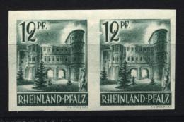 Rheinland-Pfalz,4 U,xx,paar Mit PF II,gep. (5290) - Zona Francese