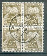 Collection FRANCE ; Taxes ; 1960 ; Y&T N° 92 ; Bloc De 4 ;  Oblitéré - Taxes