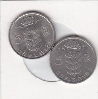 2 X 5 Francs  Baudouin 1976 FR Et 1976 FL - 05. 5 Francs
