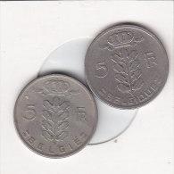 2 X 5 Francs  Baudouin 1964 FR Et 1964 FL - 05. 5 Francs