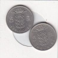 2 X 5 Francs  Baudouin 1967 FR Et 1967 FL - 1951-1993: Baudouin I