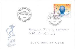 IER JOUR D´EMISSION LUXEMBOURG 2003 - Joer 400 Kolleisch  -  Circulée - Luxembourg