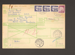 BRD Auslandspaketkarte Nach Rumänien Von 1973 Mit 3 X 2 DM Heinemann, Portostufe 6,10 DM - [7] République Fédérale