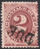 United States,  2 C. 1884, Sc # J16, Mi # 2b, Used - Postage Due