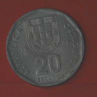 PORTUGAL  20  ESCUDOS  1986   KM# 634,1  -    (Nº04984) - Portugal