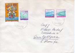 CROATIA 1991 Cover Yugoslavia Definitive Stamps And Imperforate Trsat Monastery Tax Stamp.  Michel ZZM 8A - Croatia