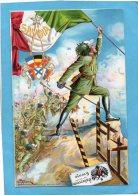 1915- Patriotique Italienne-BERSAGLIERI-à L´assaut Franchissant La Frontière-carte D´époque -C Tallone - Guerre 1914-18