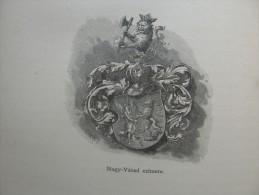 Hungary - Romania - Nagyvárad - Oradea - Nagyvárad Czímere - Heraldika   Ca 1891 Print 2.OM7.396 - Stiche & Gravuren