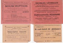 2 Billets De SOUSCRIPTION - PATRONAGE Des ECOLES D' AMBARES- ASSOCIATION AMICALE  Des P.T.T. Gironde - Tickets - Vouchers