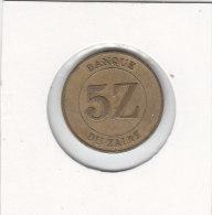 5 Zaires 1987 - Congo (République 1960)