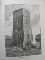 Hungary - Bihar - Nagyszalonta - A Szalontai Csonka Torony     Ca 1891 Print 2.OM7.421 - Estampes & Gravures