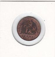 2 Centimes Cuivre Léopold II 1909 FR   Sup - 1865-1909: Leopold II