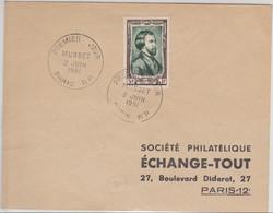 Lettre Premier Jour Musset Le 2.06.1951 - 1921-1960: Modern Period
