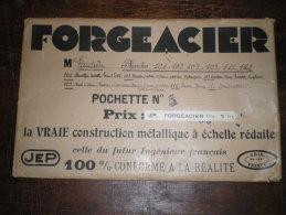 """JEP """" FORGEACIER"""" Pochette & 5 Plans  1933 - Machines"""