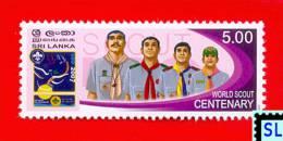 Sri Lanka Stamps 2007, Scout, Sri Lanka Scouting, MNH - Scouting