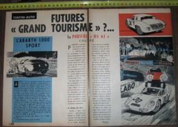PUB PUBLICITE AUTO GT PORSCHE RC RS 61 COUPE ABARTH 1000 SPORT - Publicités