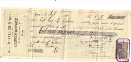 Lettre Change 29/4/ 1895 LOUVET RENAUX Allumettes Chimiques ROUEN Seine Maritime Pour Gourdon Lot  - Timbre Fiscal - Lettres De Change