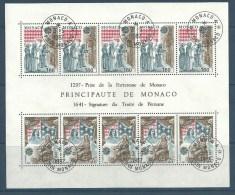 """Monaco Bloc YT 22 """" Europa : Scènes Historiques  """" 1982 1er Jour - Blokken"""