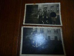 BC7-2-5 2 Photos9x6 Prisonniers Stalag 4A Envoyées à Famille Wéry Houyoux Jumet Bayemont - Guerre, Militaire