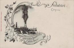 Litho Photo- Salutari Din Campina, Eruptia Sondei Steaua Romana 1901 Petrol Fire Roumanie - Roumanie