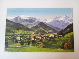 AK 1927 Luftkurort Schruns (Montafon) Mit Zimbaspitze (2645m) Voralberg Echt Gelaufen! Sonderstempel - Schruns