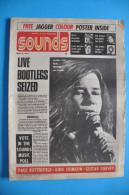 SOUNDS De MAI 1971 Avec MICK JAGGER - BOB DYLAN - THE BIRDS - JANIS JOPLIN - Magazines & Newspapers
