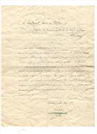 Lettre Manuscrite Du Lieutenant Astier De Villatte - 1921  - 2ème Régiment De Chasse De Strasbourg - Documents