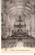 Brest (Finistère)-Intérieur De L'Eglise Saint-Louis -La Nef Centrale Et Le Cœur -Edit. F.T. Brest - Brest
