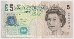 ROYAUNE UNI GRANDE BRETAGNE 5 Pounds - 1952-… : Elizabeth II