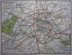 PUBLICITE - ANCIEN  PLAN DU METRO PARIS  Offert Par Les Vins Du Grillon - GRILLON D'OR - Europe