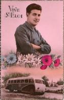 VIVE ST-ELOI : Old Timer - Autocar - Cachet De La Poste 1951 - Felicitaciones (Fiestas)