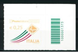 **6** -  ITALIA Repubblica 2013 - Poste Italiane. Serie Ordinaria. - 1 Val. + Cod. Aut. MNH** - Perfetto - 1946-.. Republiek