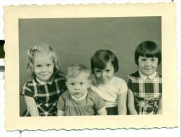 Originele Foto Kinderen Schoolfoto 1963 - Size 7 Cm X 9 Cm - Personnes Anonymes