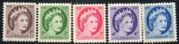 Canada 1962 - Phosphor Definitives Complete SG463p-467p MNH Cat £9.25 SG2012 A-Z Empire Catalogue - 1952-.... Règne D'Elizabeth II