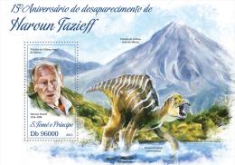 st13418b S.Tome Principe 2013 Haroun Tazieff Dinosaur s/s