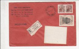 A2665 - 2 X 90 £ Sirac. + 50 £ Bramante Su Raccomandata  VG Torino 18-01-1973 - 6. 1946-.. Repubblica