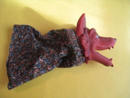 Marionnette/ Le Loup   / En Caoutchouc  /Vers 1960      JE80 - Toy Memorabilia