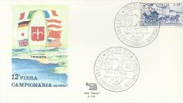 TRIESTE- 12^ FIERA CAMPIONARIA INTERREGIONALE- BOLLO SPEC. 14-06-1970 - Filatelia & Monete