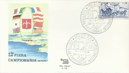 TRIESTE- 12^ FIERA CAMPIONARIA INTERREGIONALE- BOLLO SPEC. 14-06-1970 - Philatélie & Monnaies