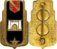ANCIEN INSIGNE ARMEE DE L�AIR PERIODE AFN LA BASE AERIENNE BA 148 HUSSEIN DEY ALGERIE (SCAN RECTO / VERSO)